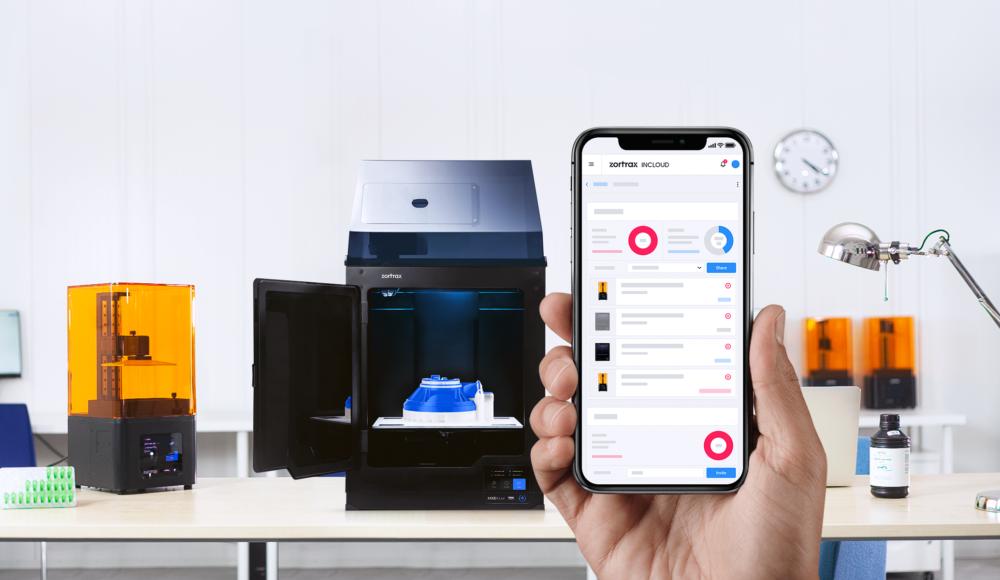 Zortrax introduce un sistema di gestione inCloud per abilitare la gestione remota delle stampanti 3D