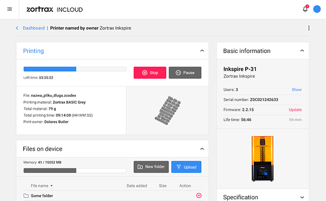 zortrax incloud 2